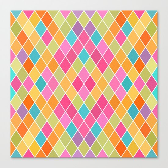 Lovely geometric Pattern VIII Canvas Print