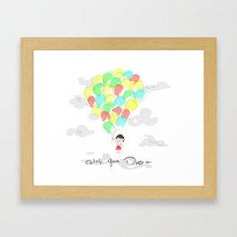 catch your dream Framed Art Print