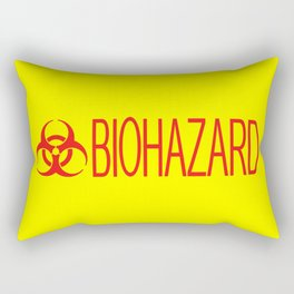 HAZMAT: Biohazard (Red & Yellow) Rectangular Pillow