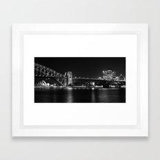 Sydney Australia B+W CityScape Framed Art Print
