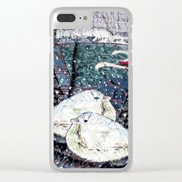 Winter birds Clear iPhone Case