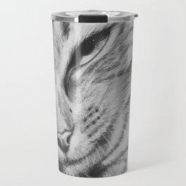 Pencil Drawing of Mr Cat Travel Mug