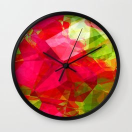 Crape Myrtle Abstract Polygons 1 Wall Clock