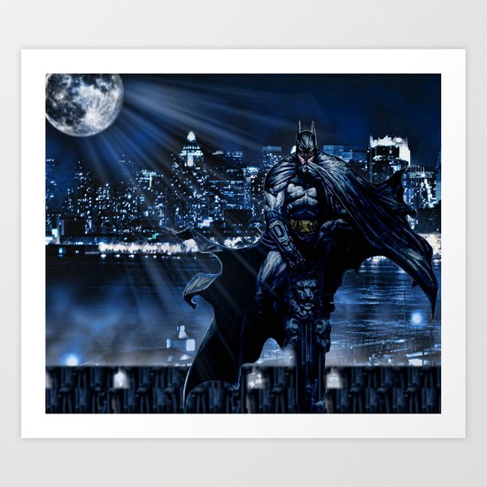 Dark Knight version 2 Art Print