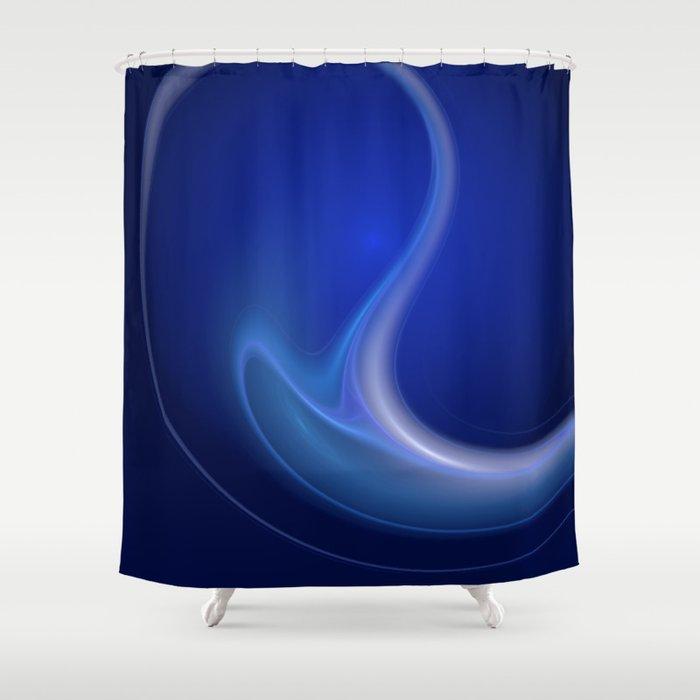 Blue Wave Shower Curtain