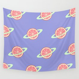 Planet Fruit: Grapefruit | pulps of wood Wall Tapestry