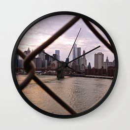 Lower Manhattan framed Wall Clock