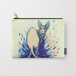 Sphynx Cat - Blue Purple Vanilla - Cat Lover Carry-All Pouch
