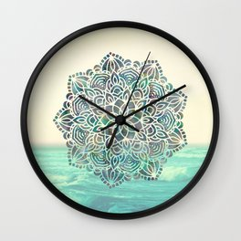 Mandala Mermaid Oceana Wall Clock