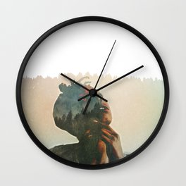 MIXED WITH NATURE Wall Clock