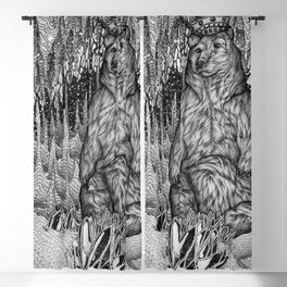 Cave of the Bear King Blackout Curtain