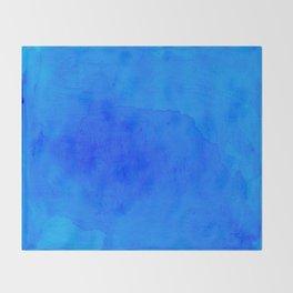 DARK BLUE WATERCOLOR BACKGROUND  Throw Blanket