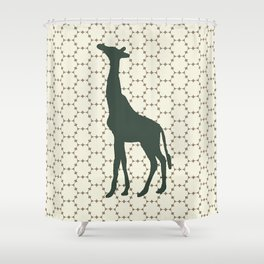 Giraffe in the Woods Shower Curtain
