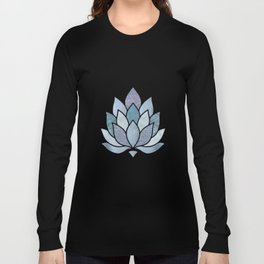 Elegant Glamorous Pastel Lotus Flower Long Sleeve T-shirt