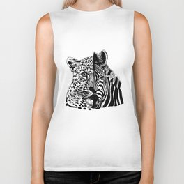 jaguar zebra monster Biker Tank