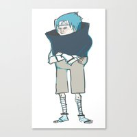 sasuke Canvas Prints featuring Sasuke by kosheko