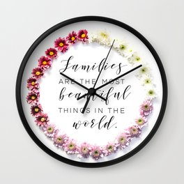 Beautiful Families Wall Clock