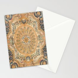 Louvre Fame Carpet // 16th Century Sunflower Yellow Blue Gold Colorful Ornate Accent Rug Pattern Stationery Cards