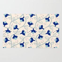 Fuchsias in Blue Rug