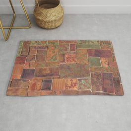 Red Patina Patchwork Rug