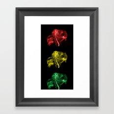 Explosive Traffic Lights Framed Art Print