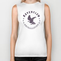 ravenclaw Biker Tanks featuring Ravenclaw House by Shelby Ticsay
