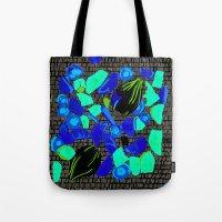 vegetables Tote Bags featuring Vegetables by Hannah Baklien