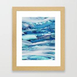 Ice Field Framed Art Print