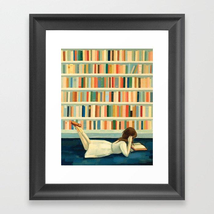 I Saw Her In the Library Gerahmter Kunstdruck