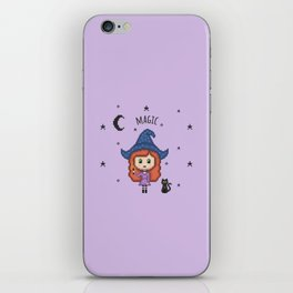 Pixel Witch (Pixel Art/Purple) iPhone Skin