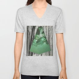 Emerald in the Trees Unisex V-Neck