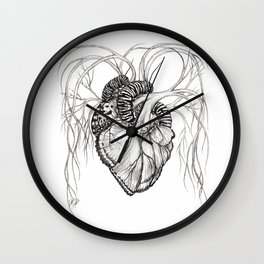 Butterfly Heart Wall Clock