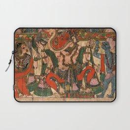 Hindu Krishna Ganesh Tapestry Laptop Sleeve