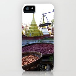 View from the Nunnery, Myanmar iPhone Case