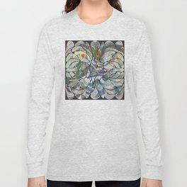 Abstract Flower Pattern Long Sleeve T-shirt