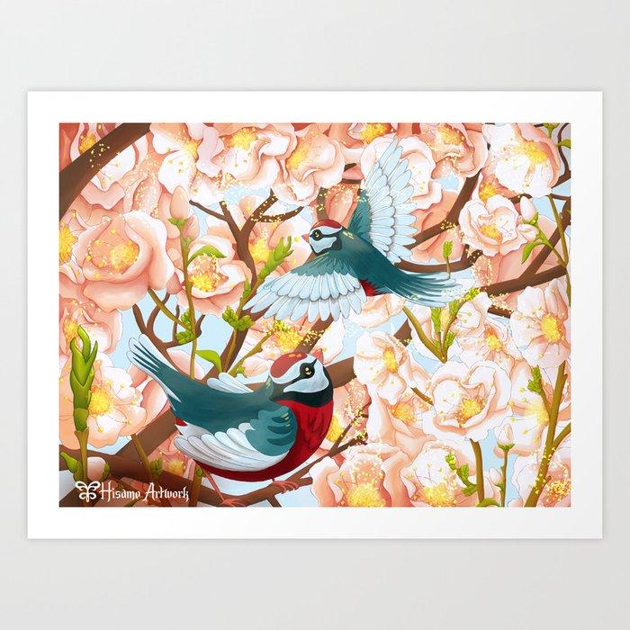 The seasons | Spring birds Art Print