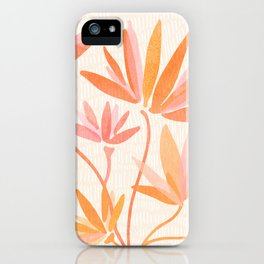 Basking In The Summer Sun / Japanese Botanical Woodblock iPhone Case