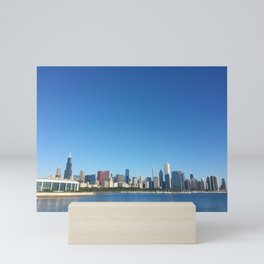Chicago Skyline With Sears Tower Mini Art Print