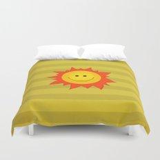Smiling Happy Sun Duvet Cover
