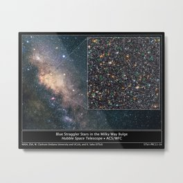 Hubble Space Telescope - Hubble finds blue straggler stars in the galactic bulge Metal Print