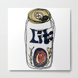 Miller Lite Can Metal Print