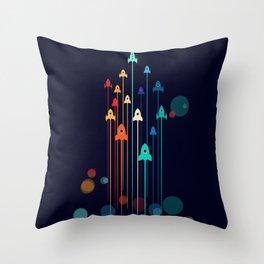 Rocket Race! Throw Pillow