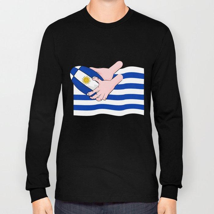 Uruguay Rugby Flag Long Sleeve T-shirt