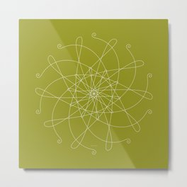 Ornament – whirling Metal Print