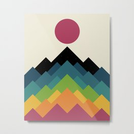 Life Is A Mountain Metal Print
