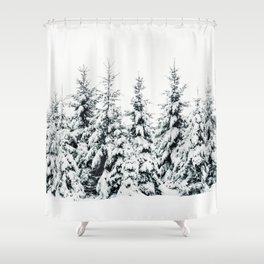 Snow Porn Shower Curtain
