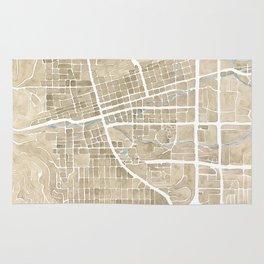 Boulder Colorado Watercolor Map Rug