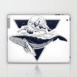Blue Whale Planet Laptop & iPad Skin