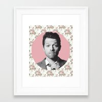 castiel Framed Art Prints featuring CASTIEL by Hands in the Sky