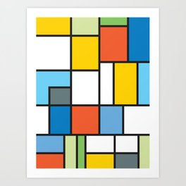 The Colors of / Mondrian Series - Simpsons Art Print